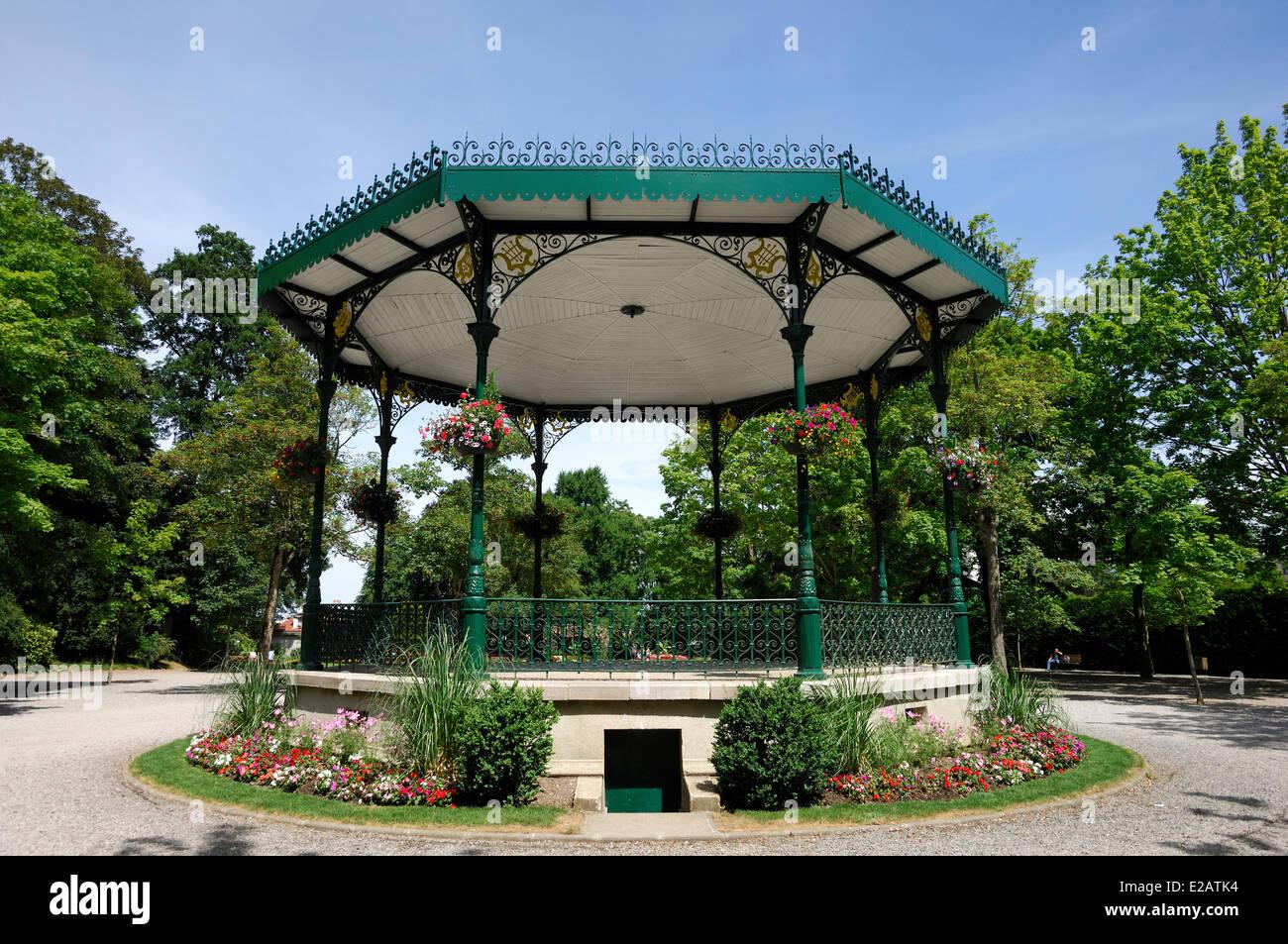 France, Pas-de-Calais, Saint Omer, Park, Bandstand - Stock Image
