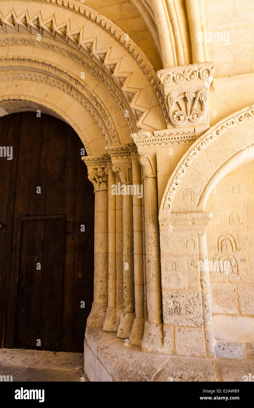 France, Charente Maritime, Pons, pilgrim hospital on the way of Saint James, listed as World Heritage by UNESCO - Stock Image