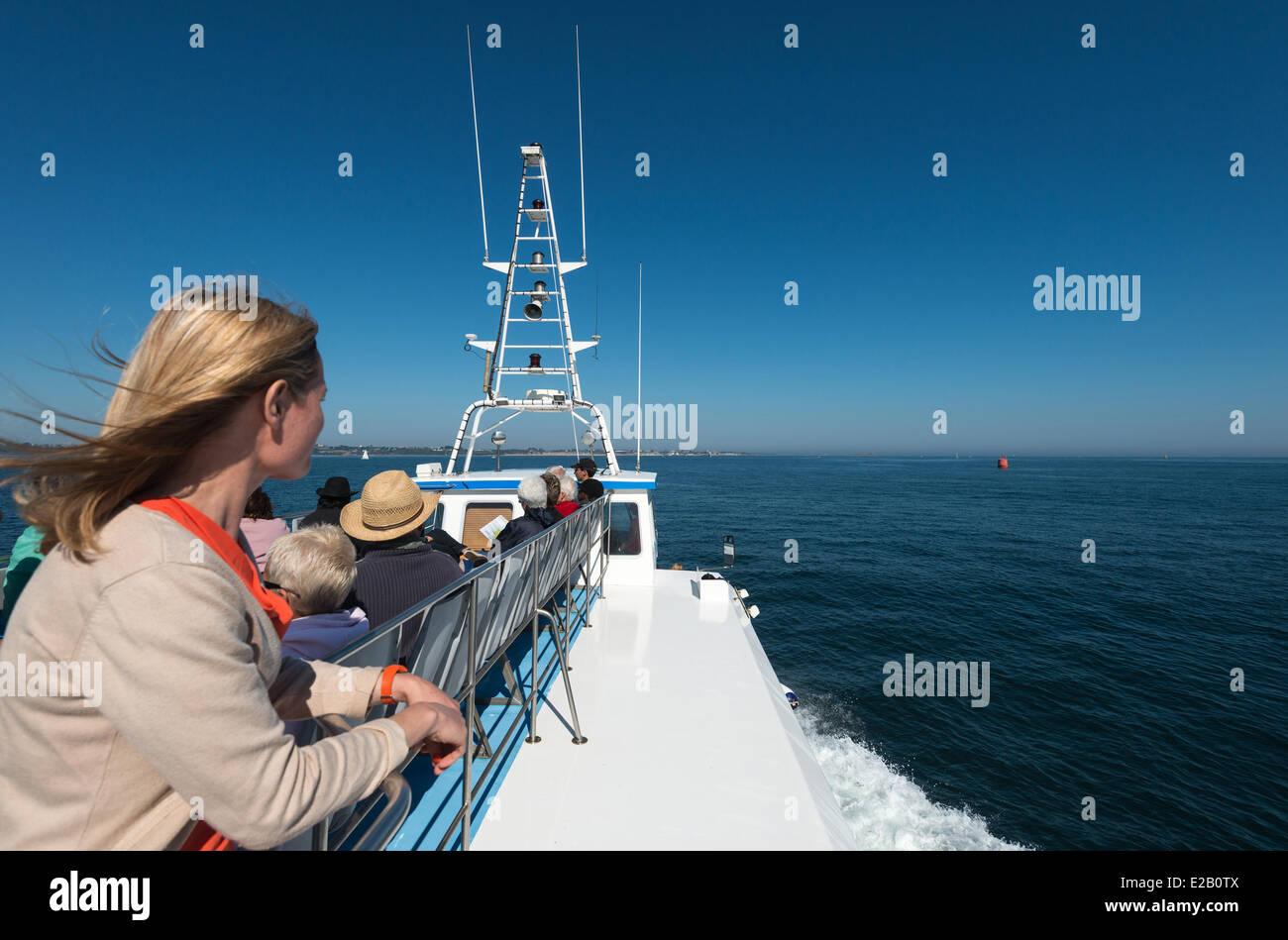 France, Finistere, Roscoff, Navigation on Baie de Morlaix - Stock Image