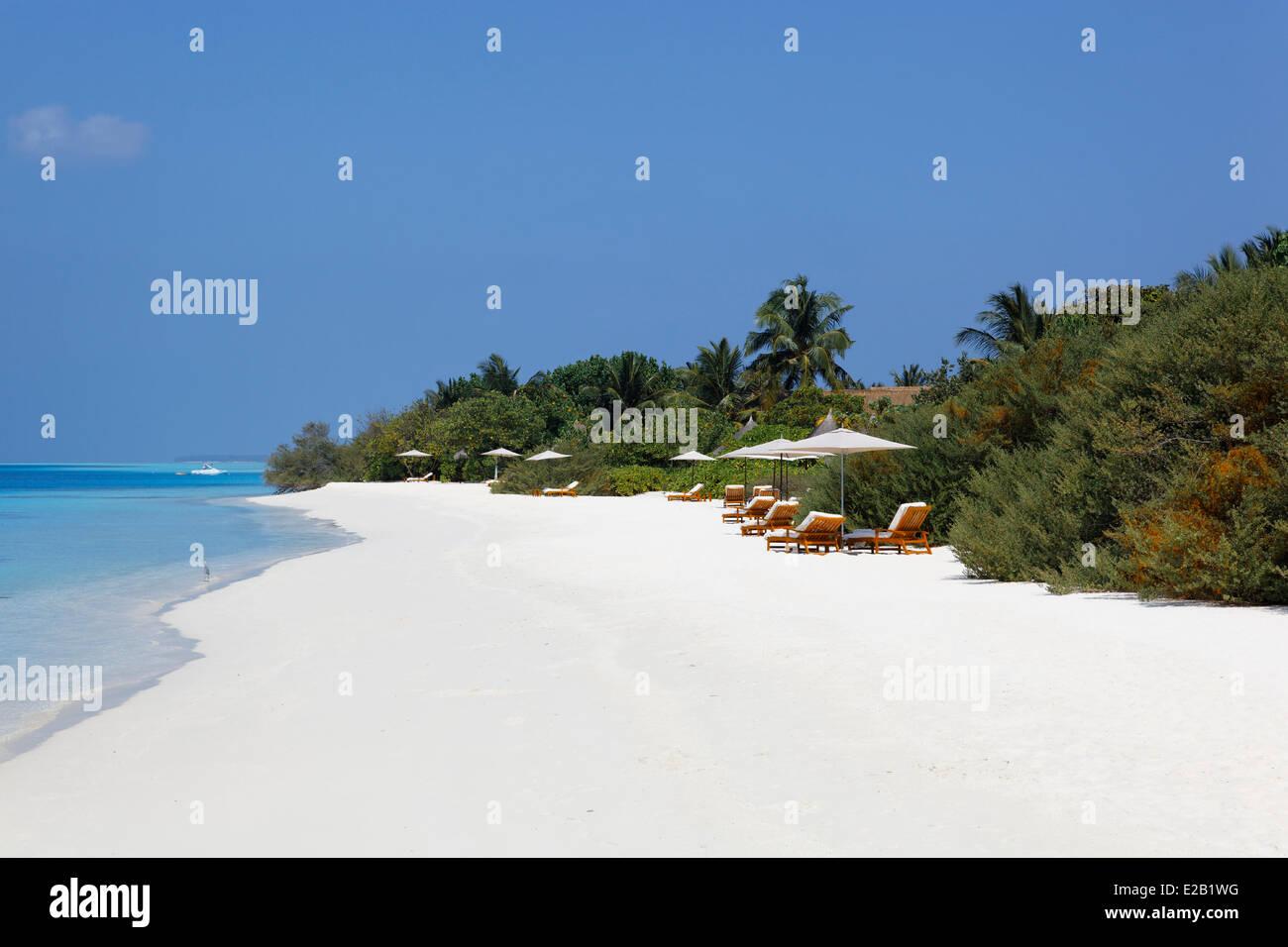 Maldives, Atoll Baa, Fours Seasons Landaa Giraavaru hotel - Stock Image