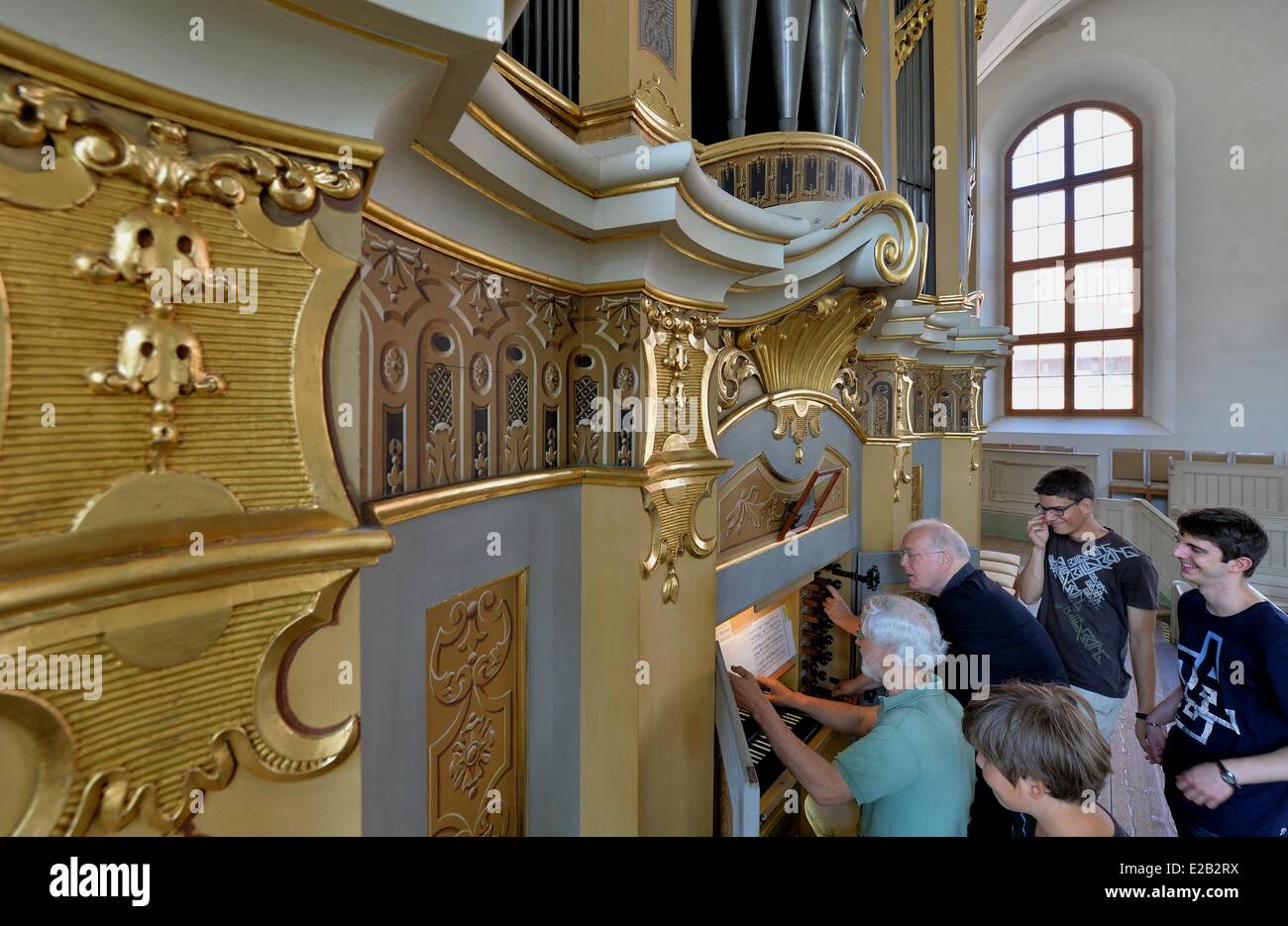 Participants Of The Youth Organists Camp From France And Switzerland Listen To A Silbermann Organ Played By Jean Ferrard Brussels Jan Willem Jansen