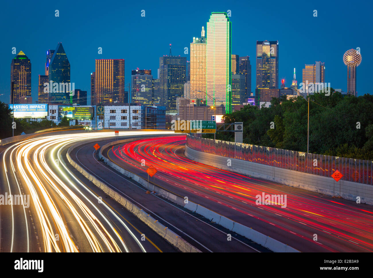 Dallas is the ninth most populous city in the United States of America and the third most populous city in the state - Stock Image