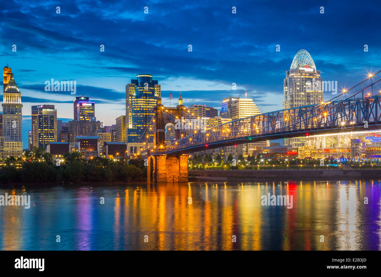 Cincinnati is the third largest city in Ohio and the 28th largest city in the United States Stock Photo