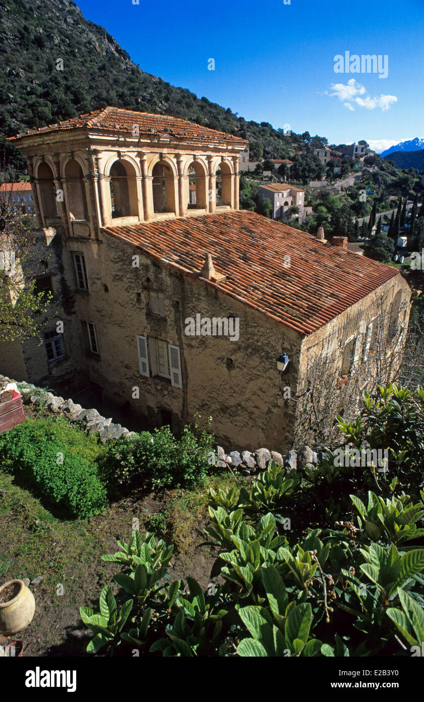 France, Haute Corse, Ostriconi Valley, Lama, medieval house - Stock Image
