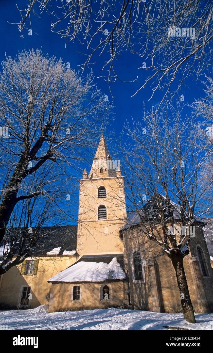 France, Isere, Vercors range, Lans en Vercors, the church - Stock Image