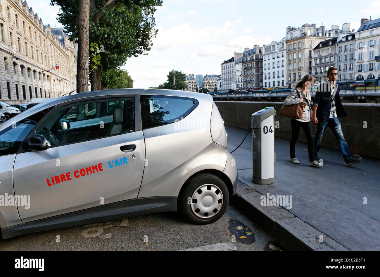 France Paris Autolib Electric Cars For Rent Stock Photo 70317633