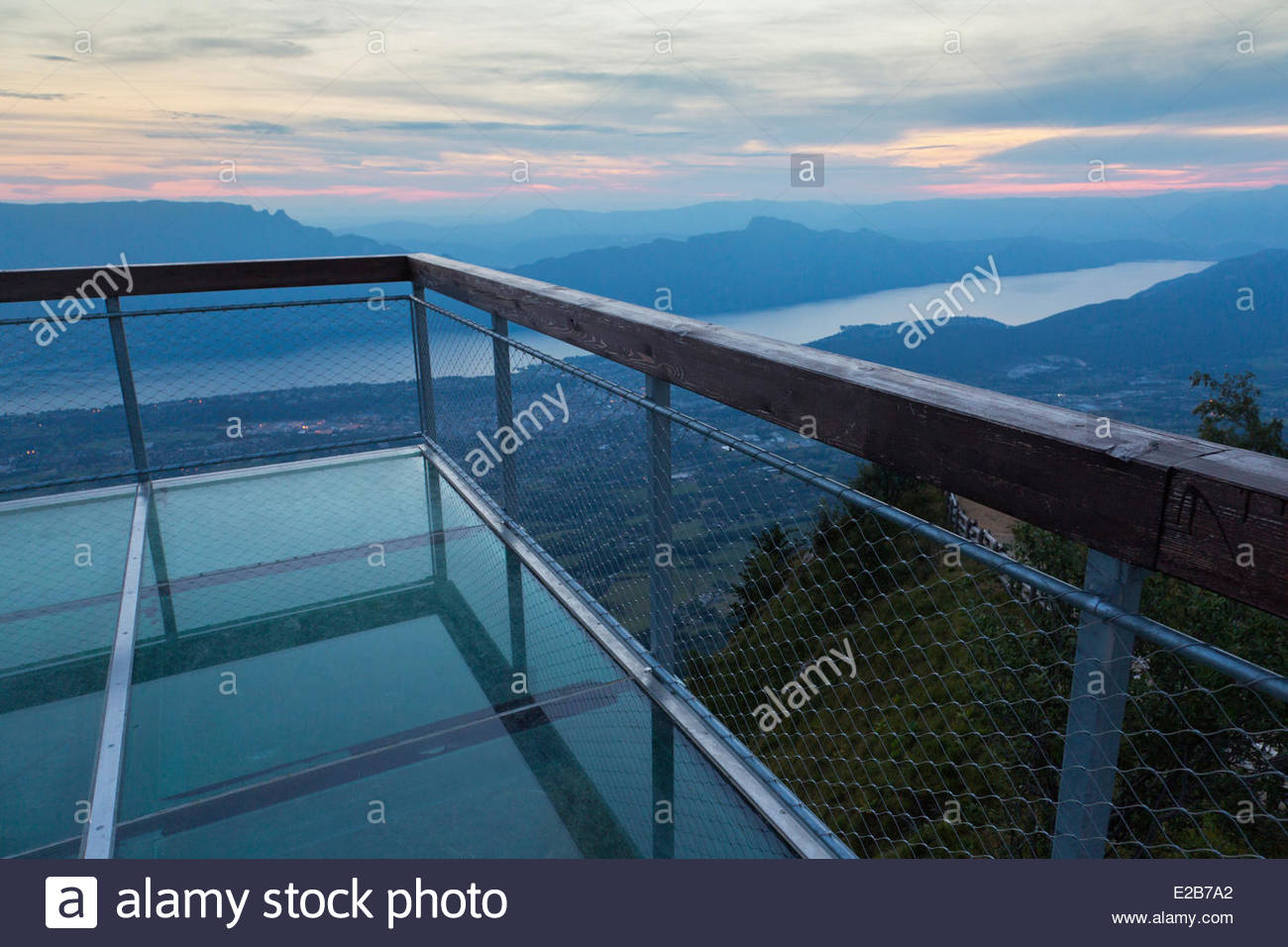 france savoie near aix les bains mont revard belvedere the stock photo 70318026 alamy. Black Bedroom Furniture Sets. Home Design Ideas