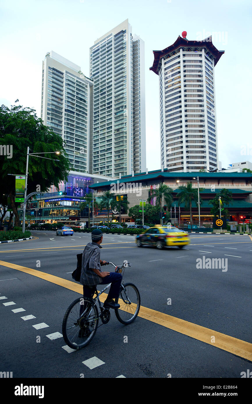 Singapore, crossroads between Orchard Road and Paterson Road - Stock Image