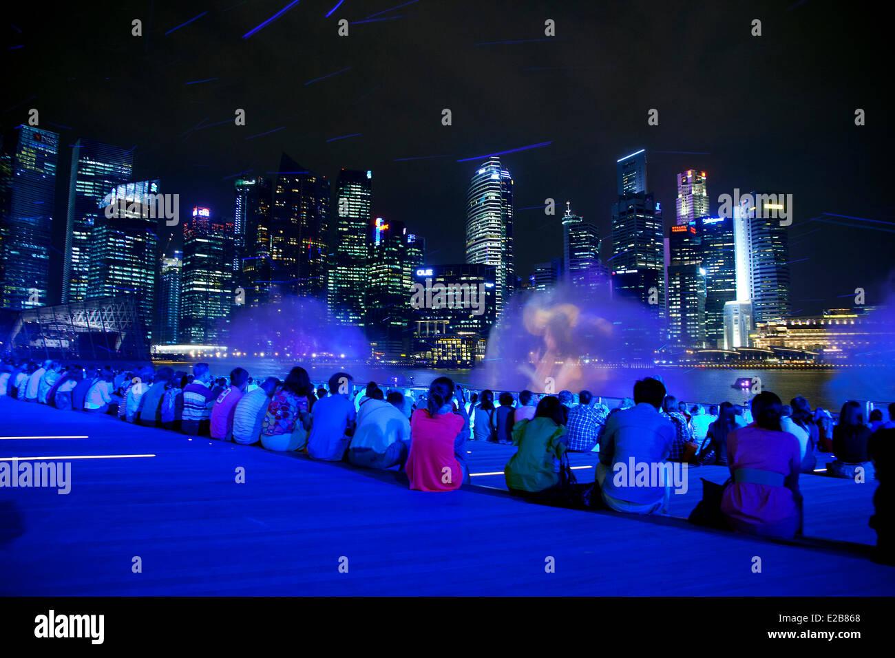 singapore marina bay sound and light show stock photo 70318704