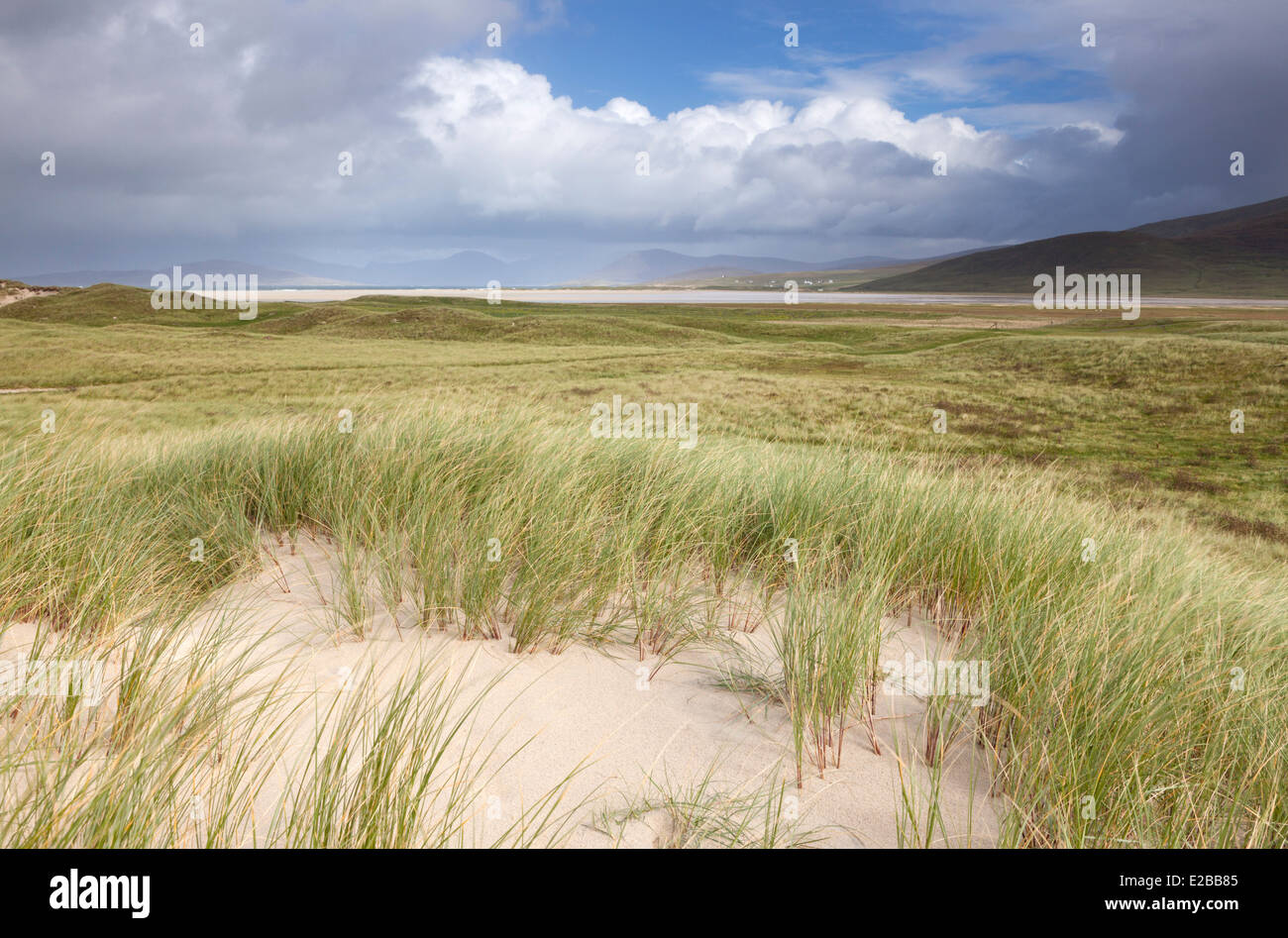 Looking North from the coast near Northton, Isle of Harris, outer Hebrides, Scotland - Stock Image