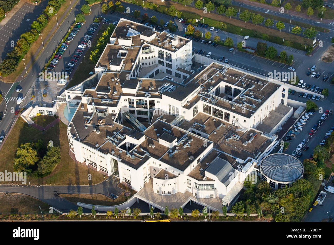 france calvados caen private hospital saint martin aerial view stock photo 70321327 alamy. Black Bedroom Furniture Sets. Home Design Ideas