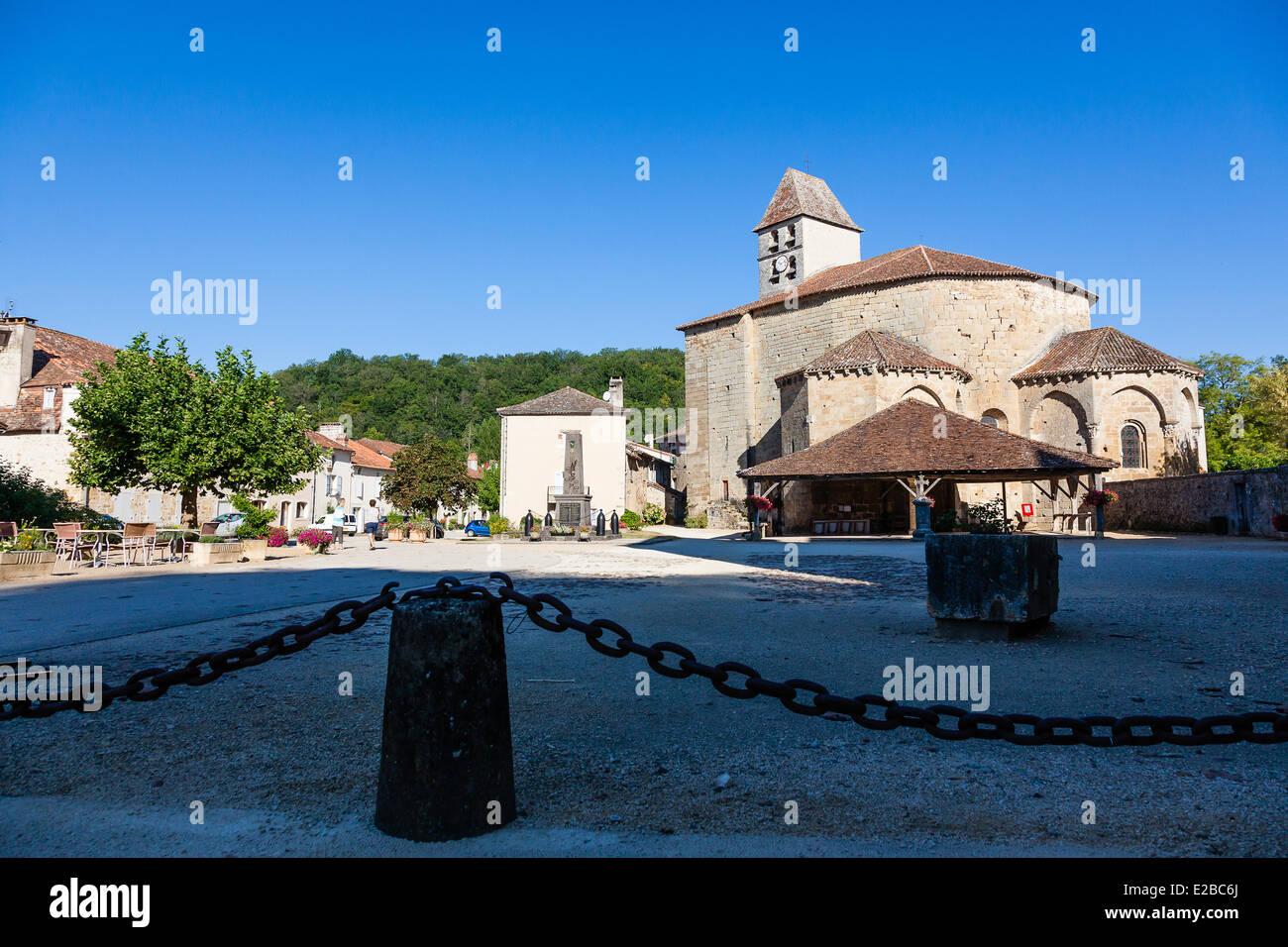 France, Dordogne, Perigord Vert, Saint Jean de Cole, labelled Les Plus Beaux Villages de France (The Most Beautiful Stock Photo
