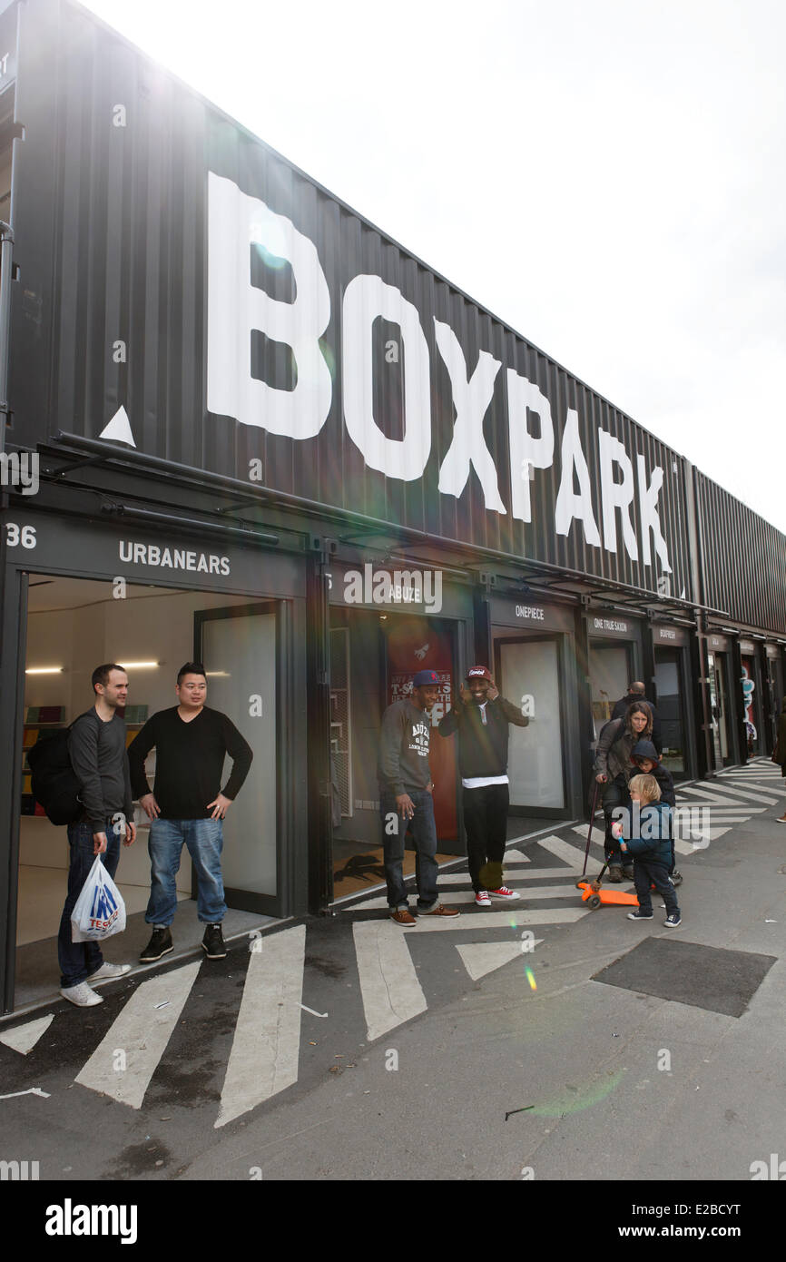Shoreditch London Uk: United Kingdom, London, Shoreditch Boxpark, Trendy