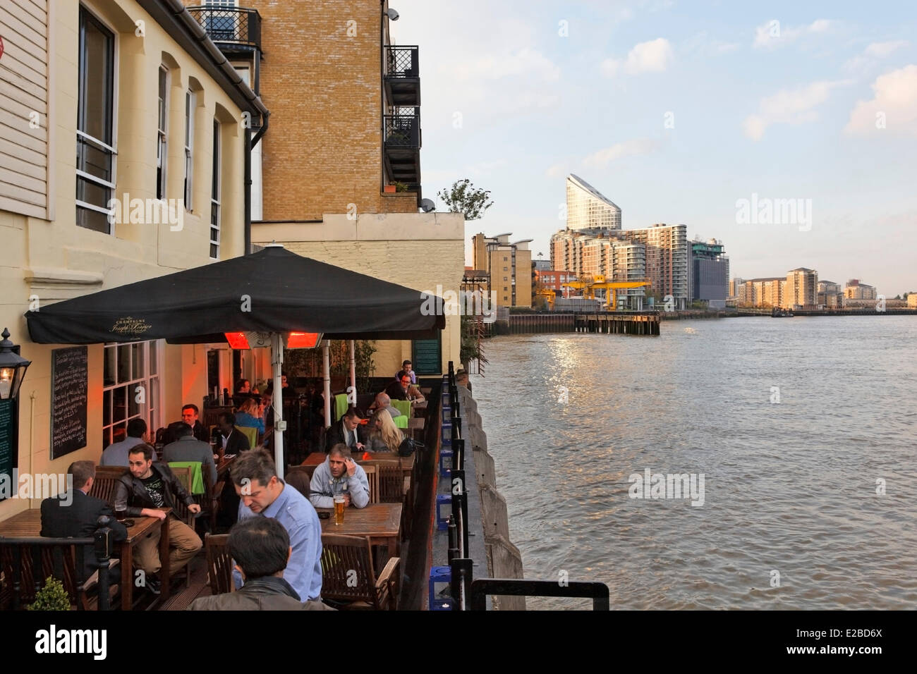 United Kingdom, London, the Isle of Dogs, the Gun restaurant - Stock Image