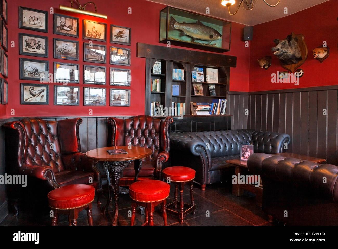 United Kingdom, London, the Isle of Dogs, the Gun restaurant - Stock Image