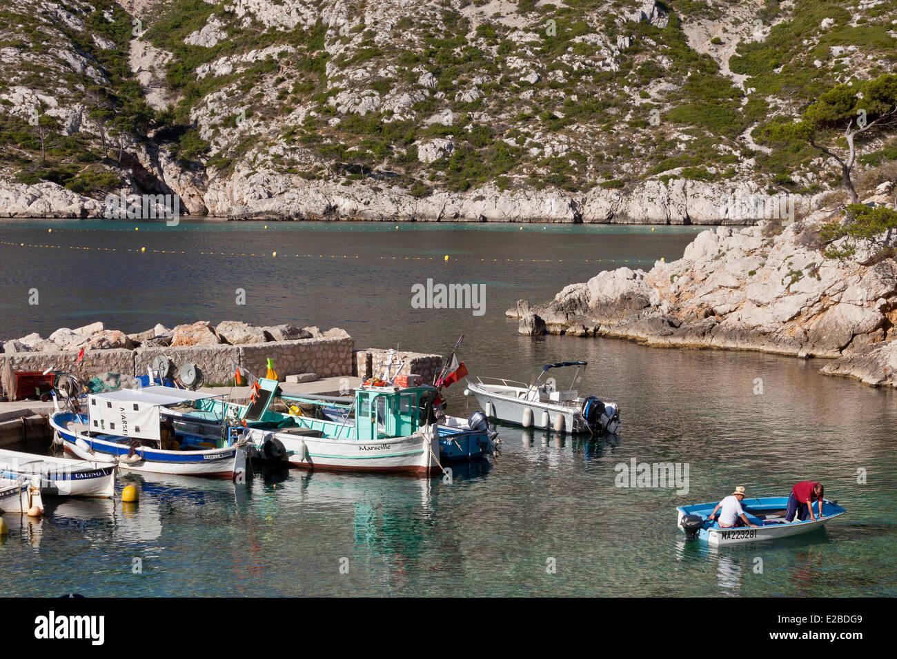 France, Bouches du Rhone, Marseille, 9th arrondissement, Calanque de Sormiou - Stock Image