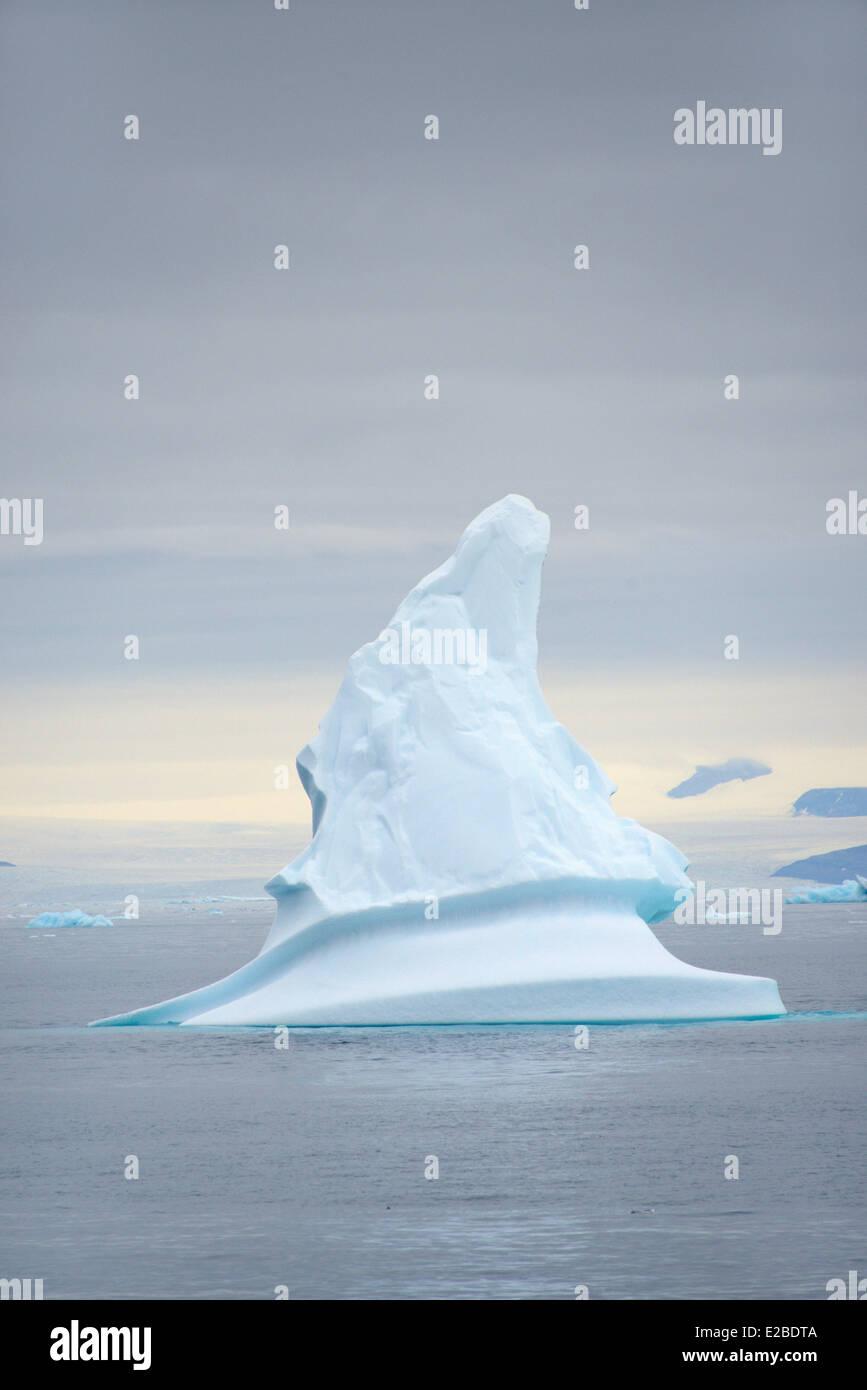 Greenland, Melville Bay, Cape York, Iceberg and glaciar - Stock Image