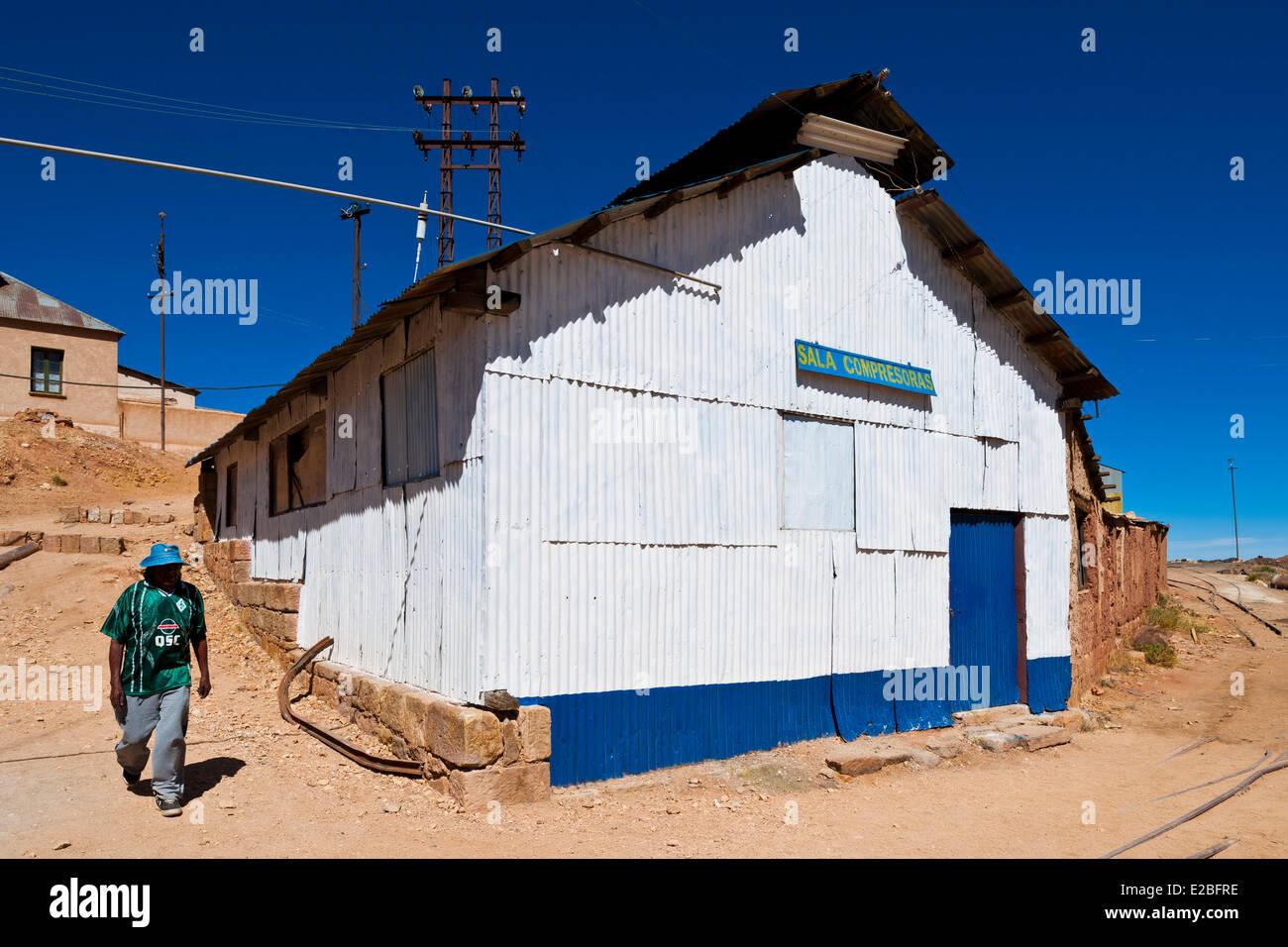 Bolivia, Potosi Department, Pulacayo, disused silver mine - Stock Image