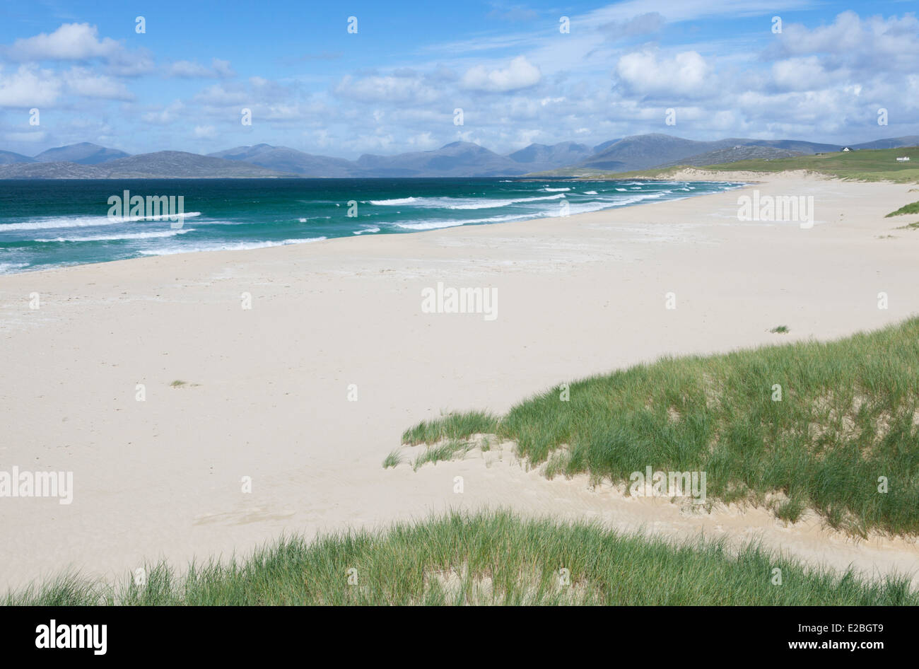 A view of Scarista beach, Isle of Harris, Outer Hebrides, Scotland - Stock Image