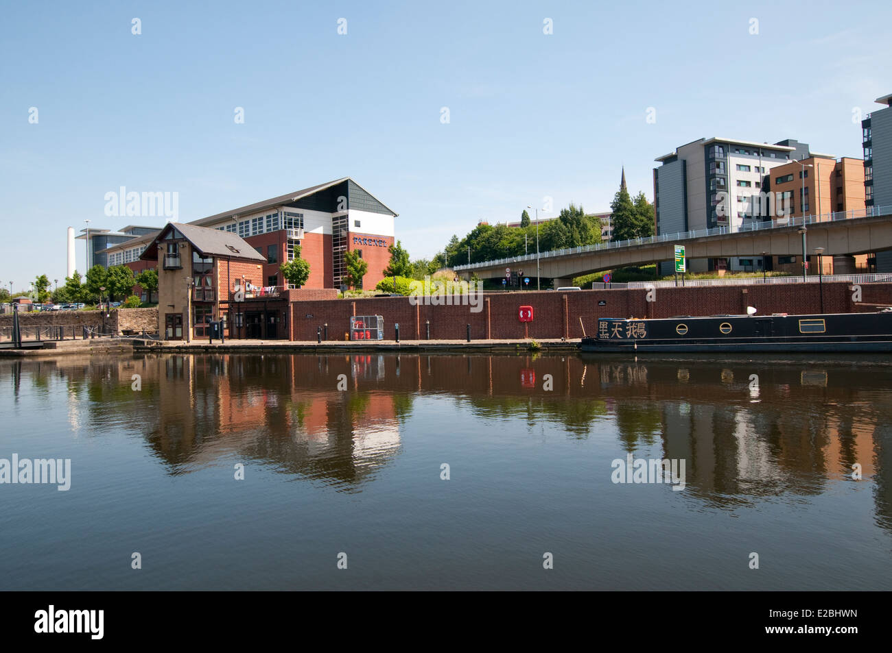 The Sheffield and Tinsley Canal, South Yorkshire England UK - Stock Image