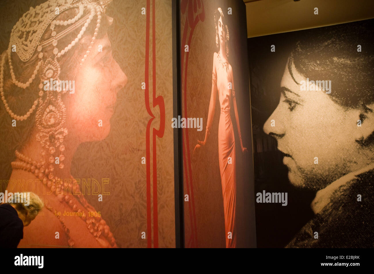 Mata Hari hall in Fries Museum. Leeuwarden. Friesland province. Fryslan. Netherlands. Holland. Frisia, Holanda. - Stock Image