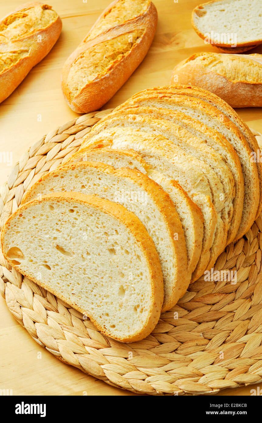 some slices of pan de payes, a round bread typical of