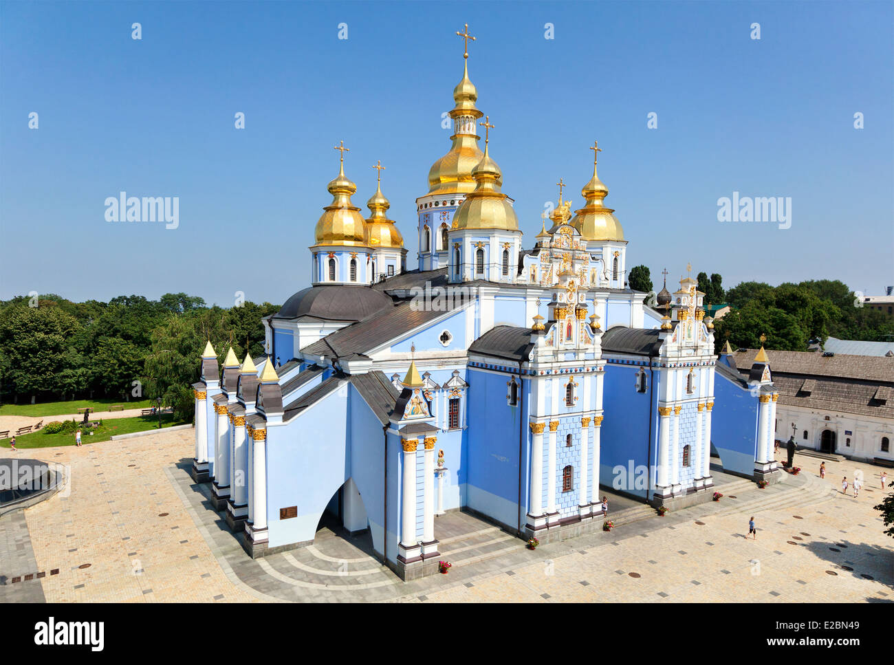 view of Saint Michael Golden Monastery in Kiev, Ukraine - Stock Image