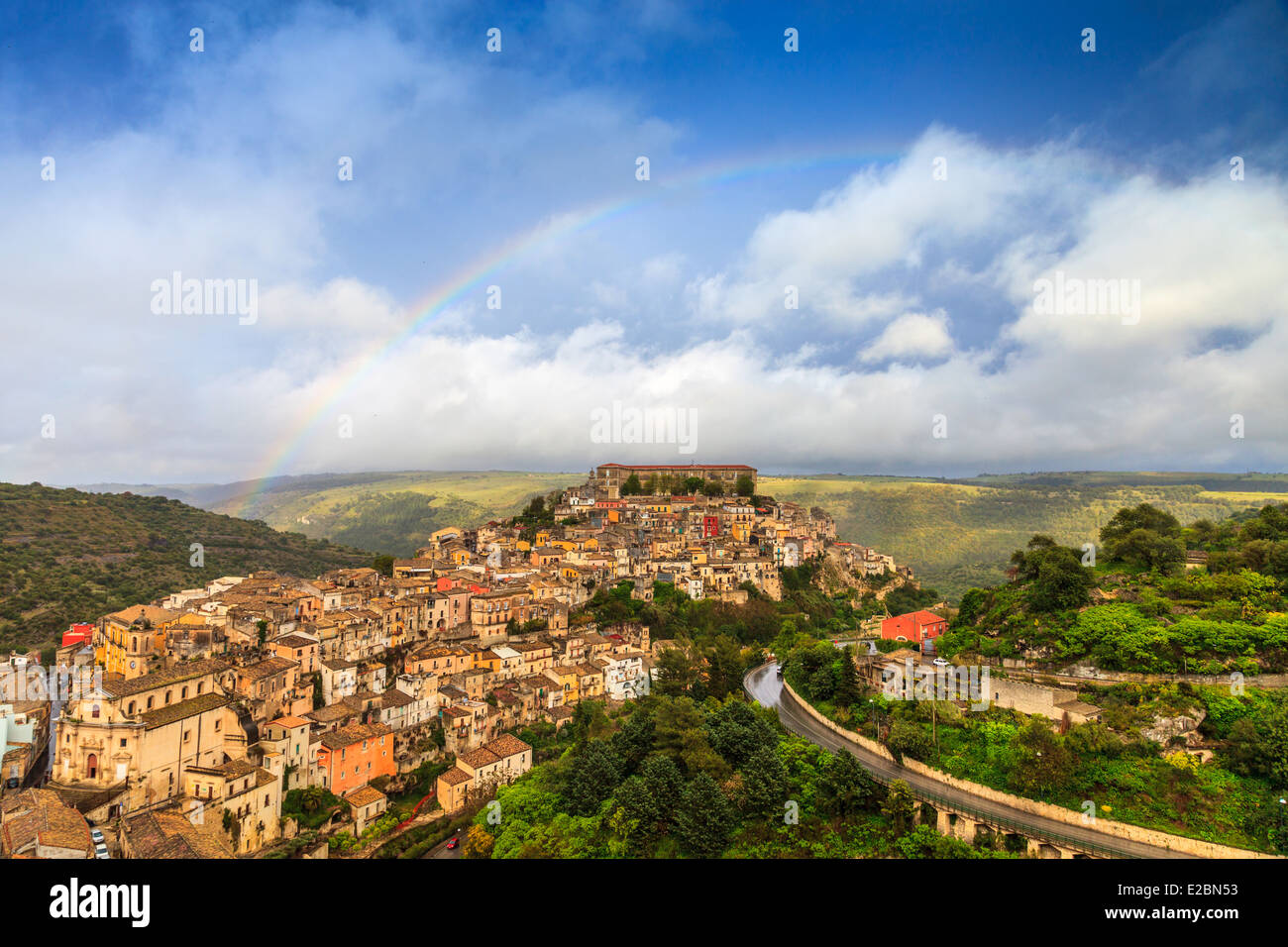 Panoramic view of Ragusa Ibla - Stock Image