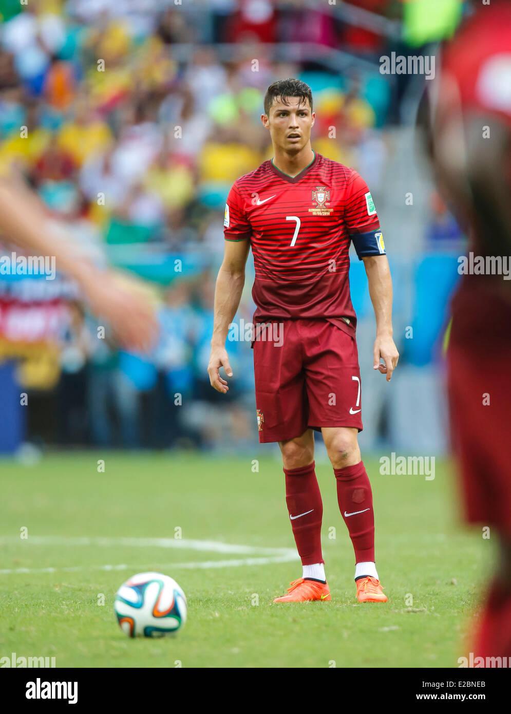 Salvador Brazil 16th June 2014 Cristiano Ronaldo Por 7
