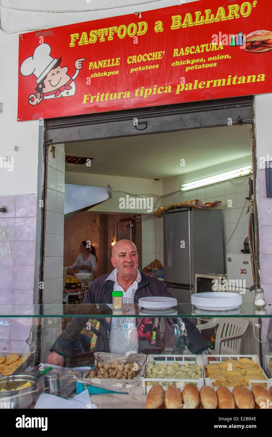 Ballarò, sicilian  fast food - Stock Image