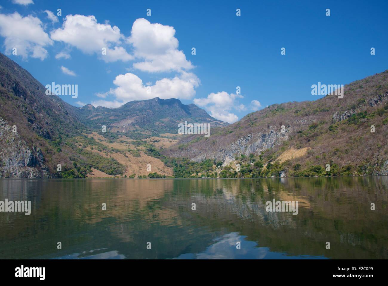 Rio Grijalva resevoir above Sumidero Canyon Chiapas Mexico Stock Photo