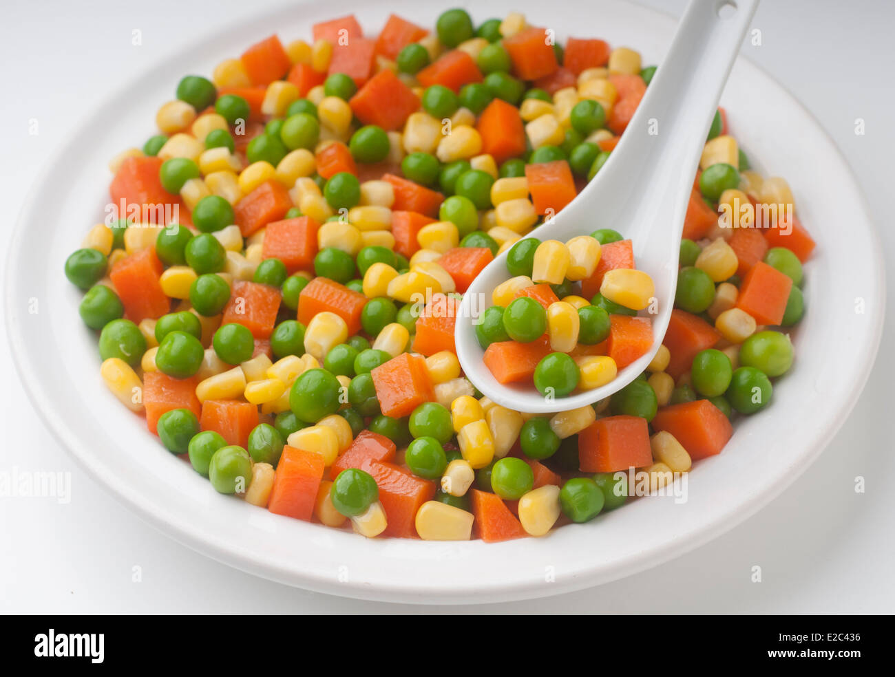 healthy and fresh vegetables prepared salad - Stock Image