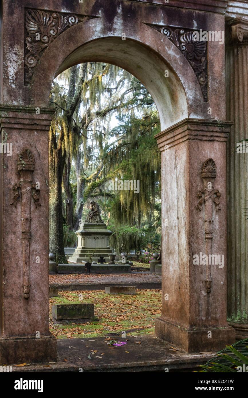 Bonaventure Cemetery in Savannah, Georgia - Stock Image