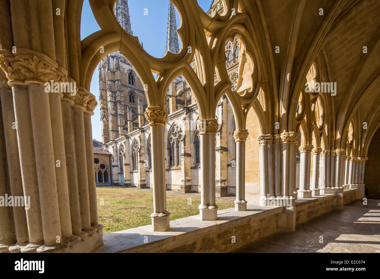 France, Pyrenees Atlantiques, Bayonne, convent of the cathedral Saint Marie - Stock Image