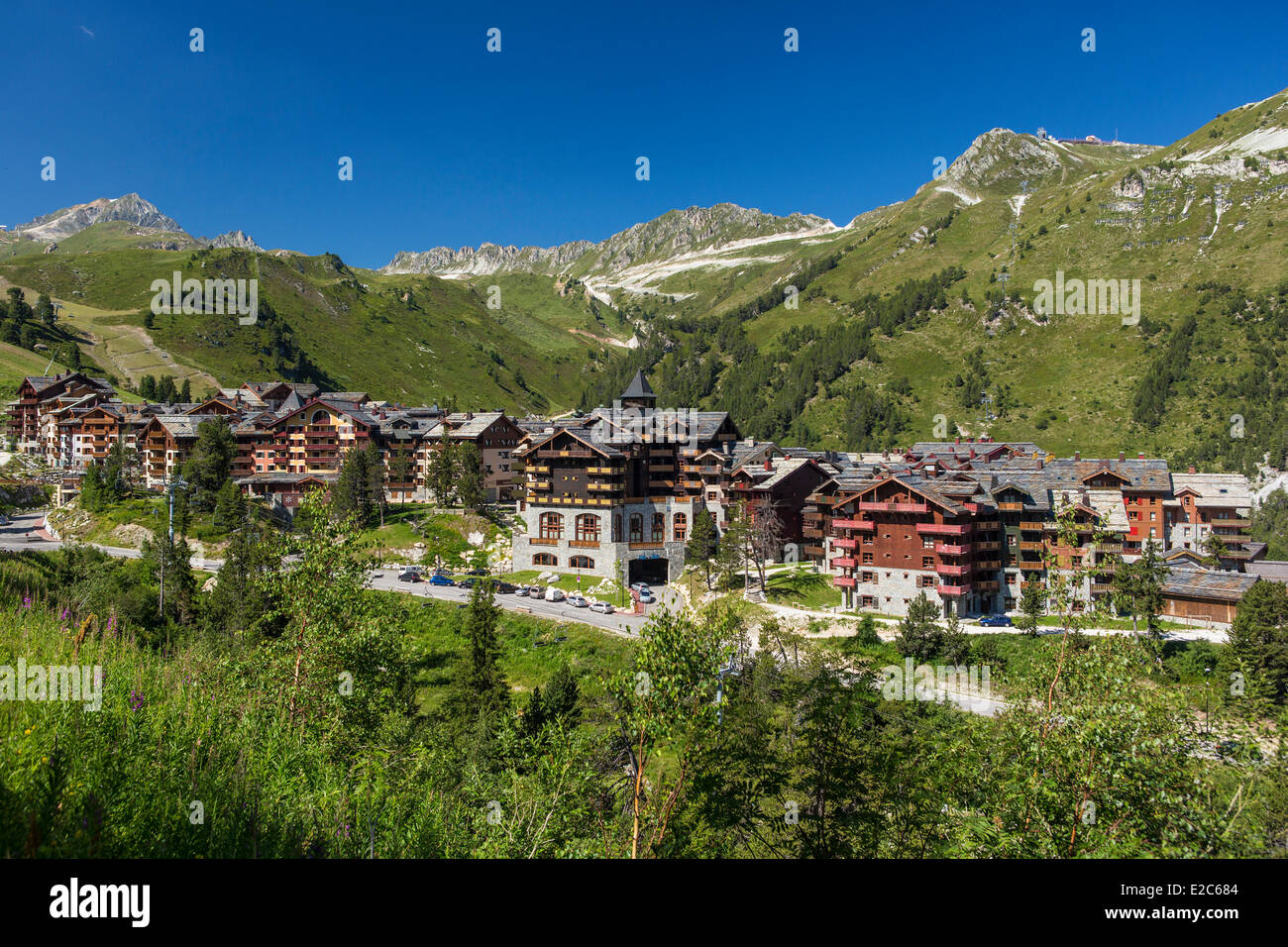 France, Savoie, Les Arcs 1950, massif of Vanoise, valley of high Tarentaise - Stock Image