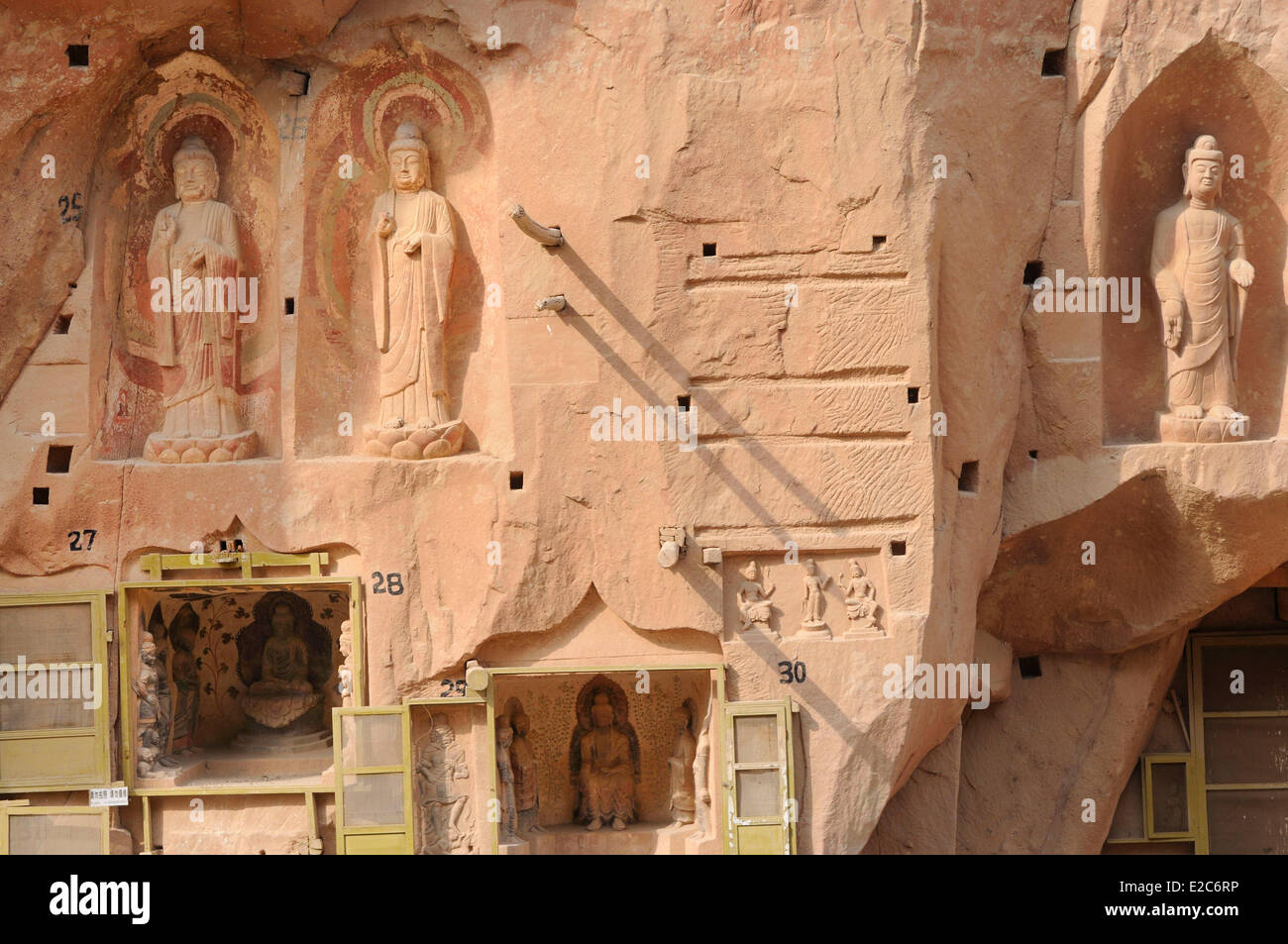 China, Gansu, surroundings of Linxia, Bingling Si caves - Stock Image