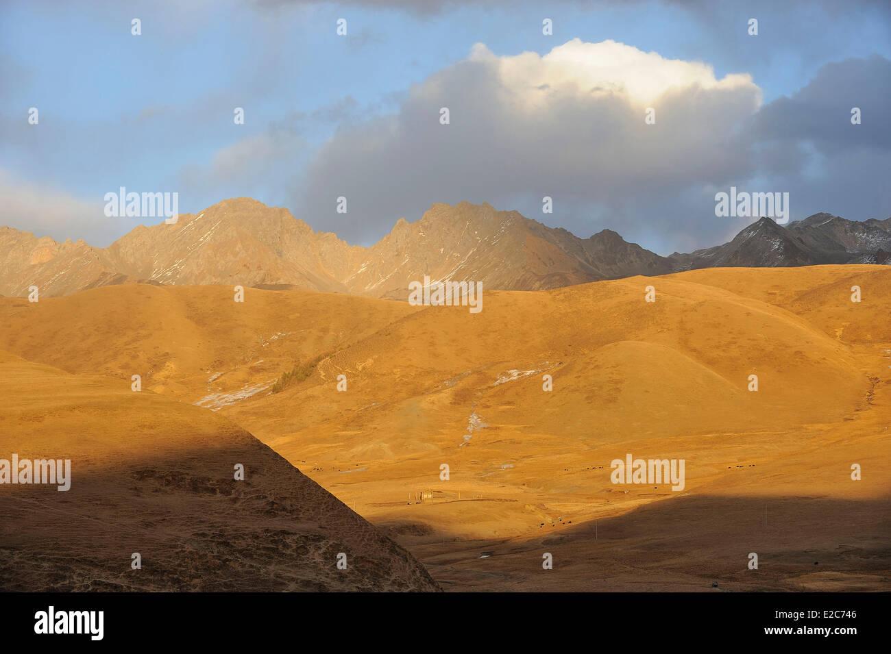 China, Sichuan, Kham, The Himalayas near Kangding (Dardo) - Stock Image