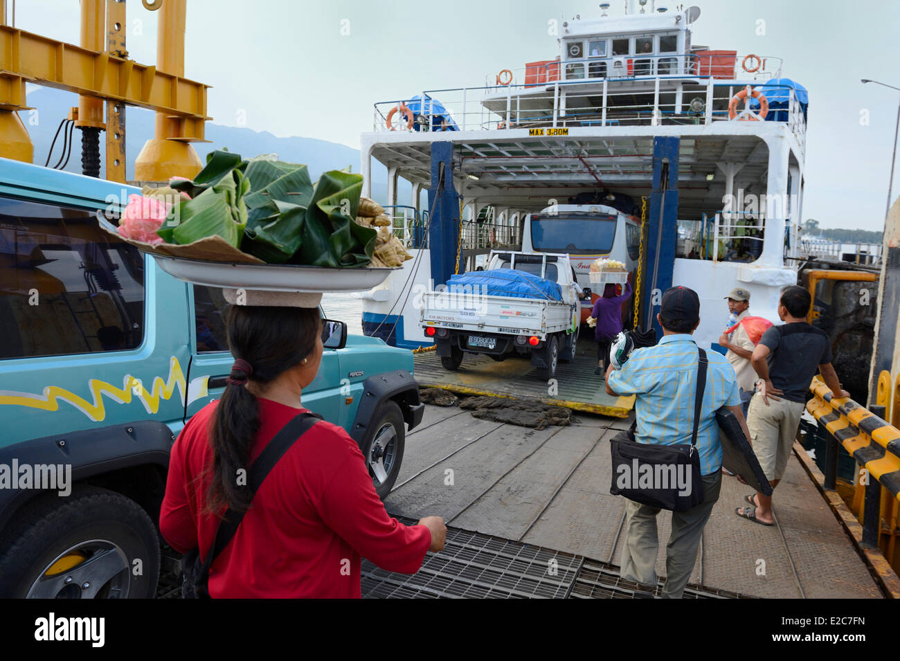 Indonesia, Lombok, on the ferry to Sumbawa Stock Photo