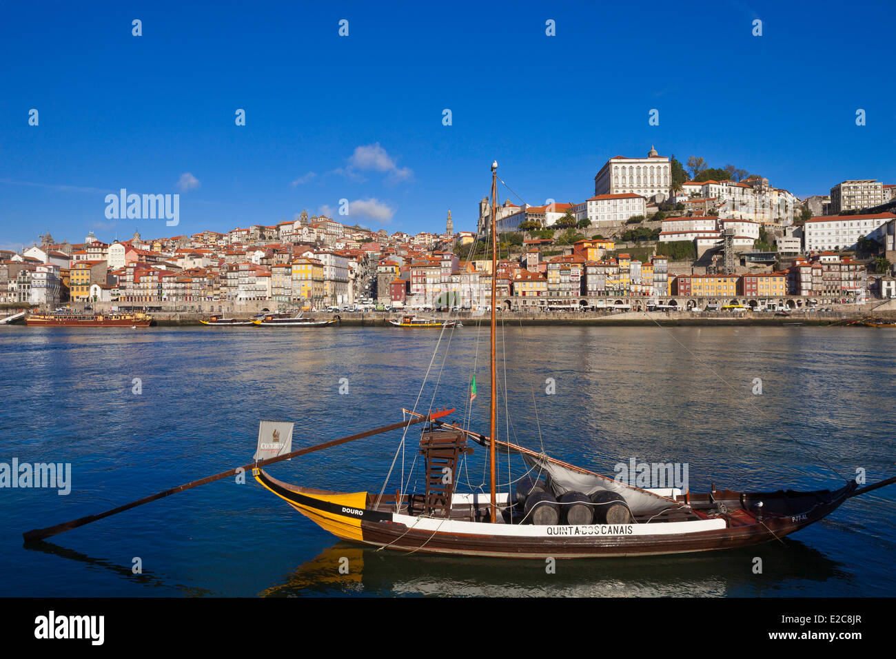 Portugal, Norte Region, Porto, historical center listed as World Heritage by UNESCO, the historic Cais de Ribeira Stock Photo