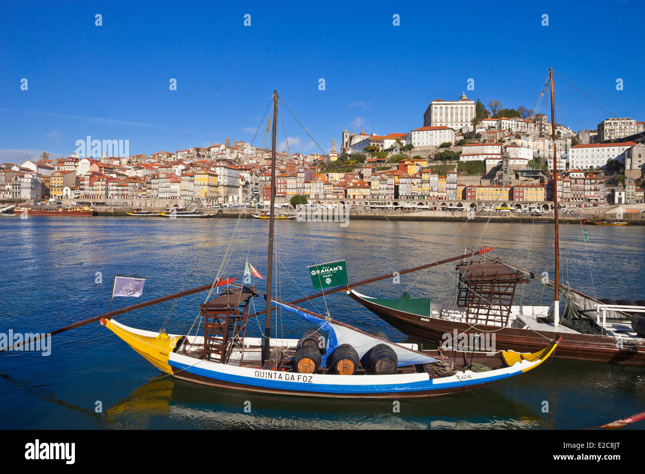 Portugal, Norte Region, Porto, historical center listed as World Heritage by UNESCO, the historic Cais de Ribeira Stock Photo