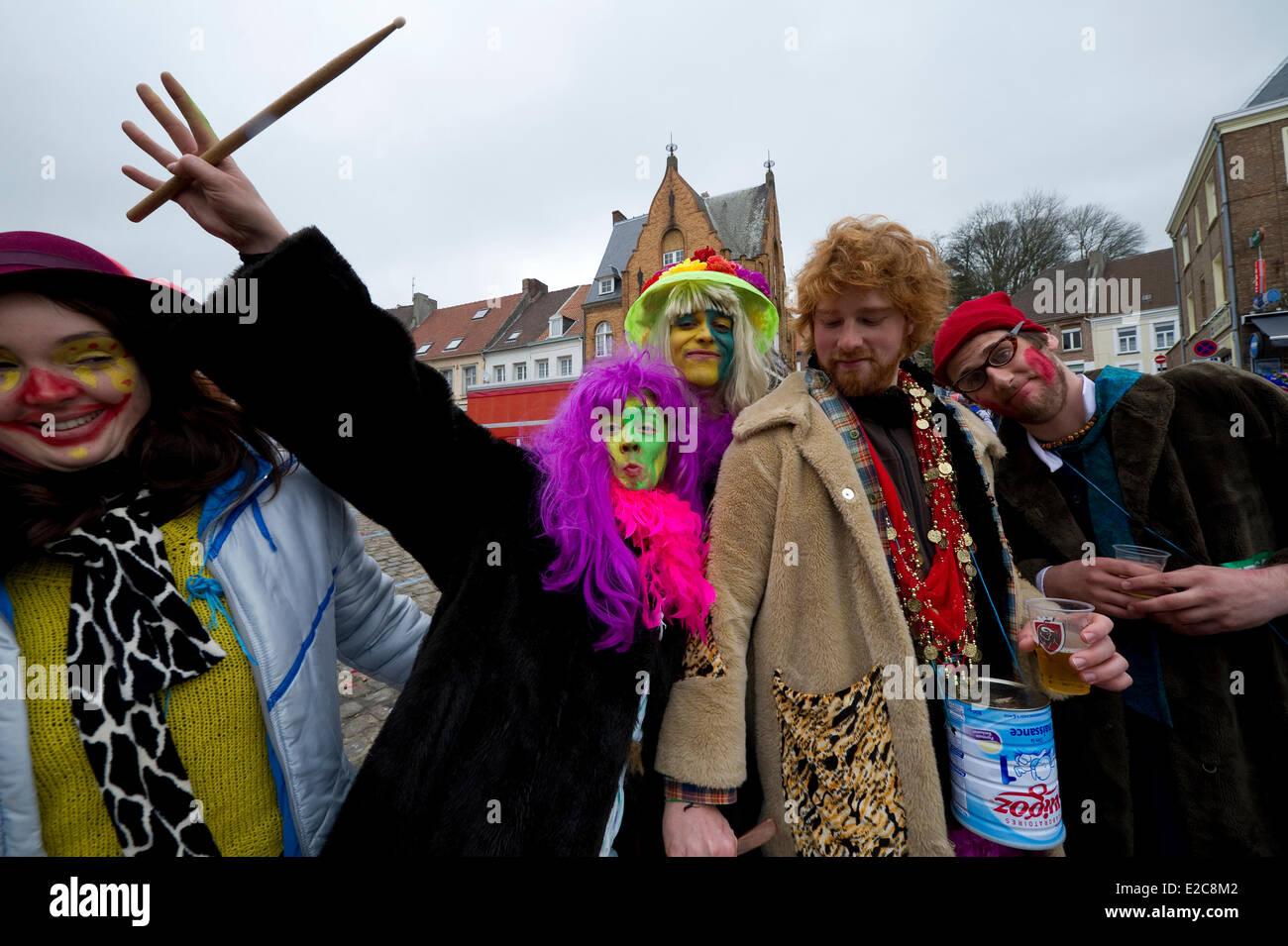 France, Nord, Cassel, Spring Carnival - Stock Image