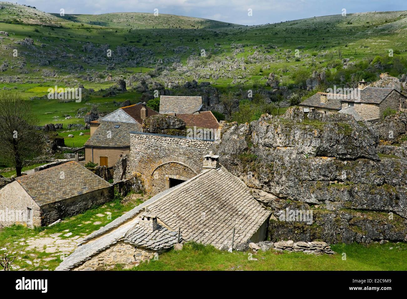 France, Lozere, Le Veygalier, chaos of Nimes le Vieux, Causse Mejean - Stock Image