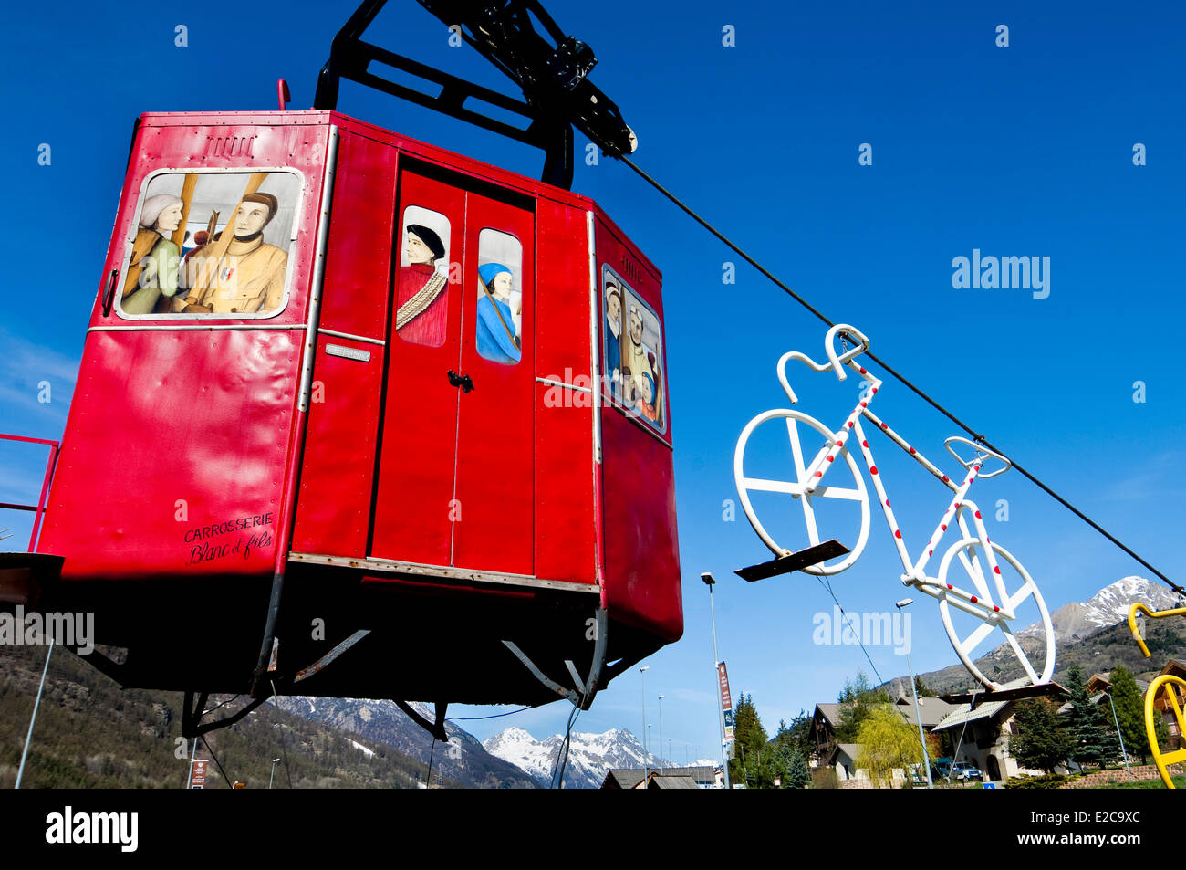 France, Hautes Alpes, Briancon, installation marking the town entrance - Stock Image