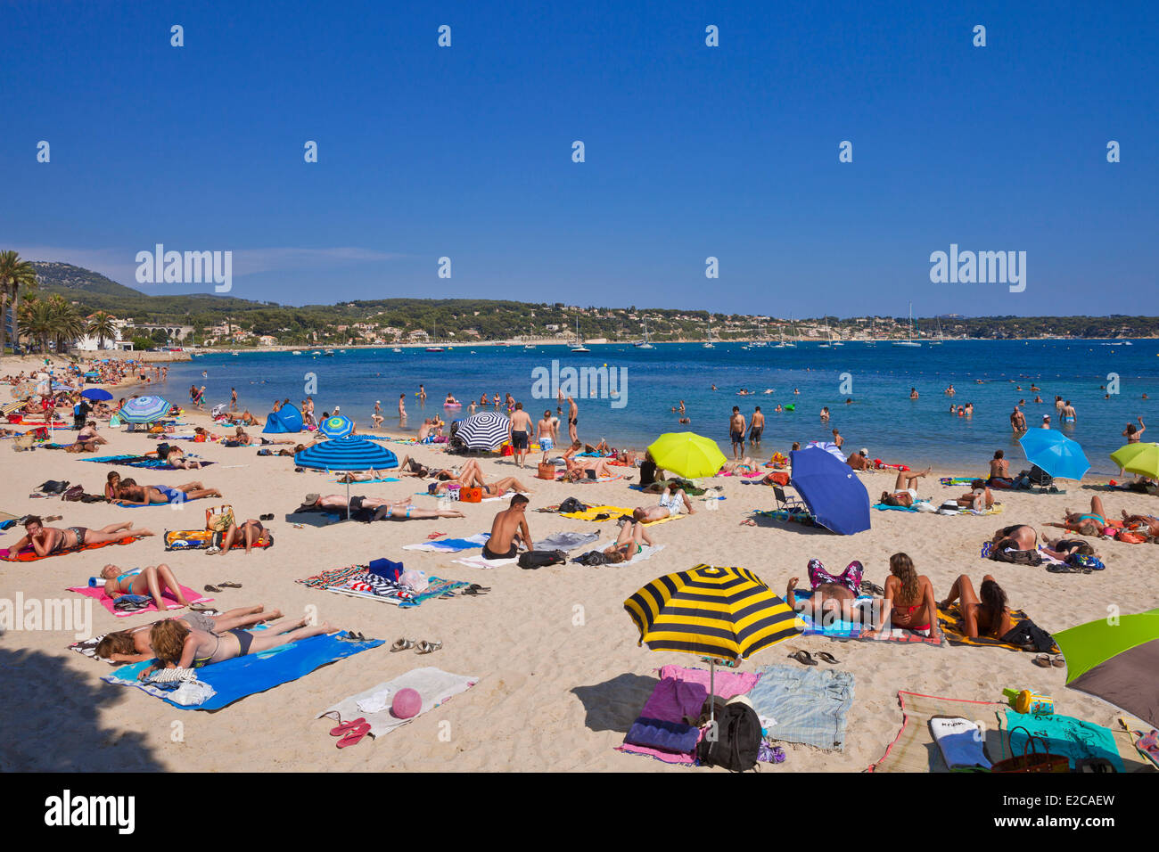 France, Var, Bandol, seaside pubs and restaurants - Stock Image