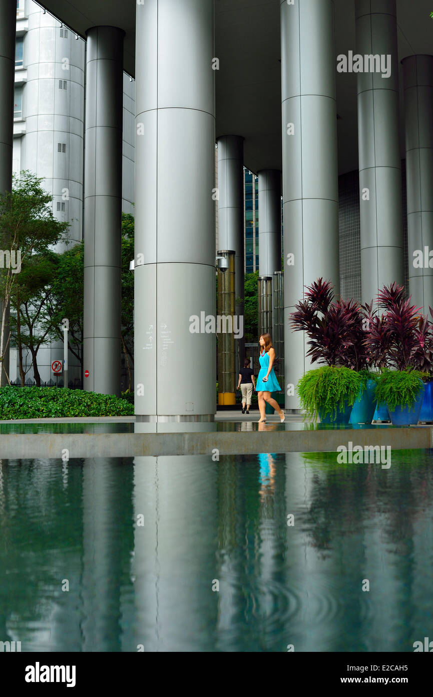 Singapore, One George Street is a 23 storey office building located in the heart of the Singapore Central Business - Stock Image