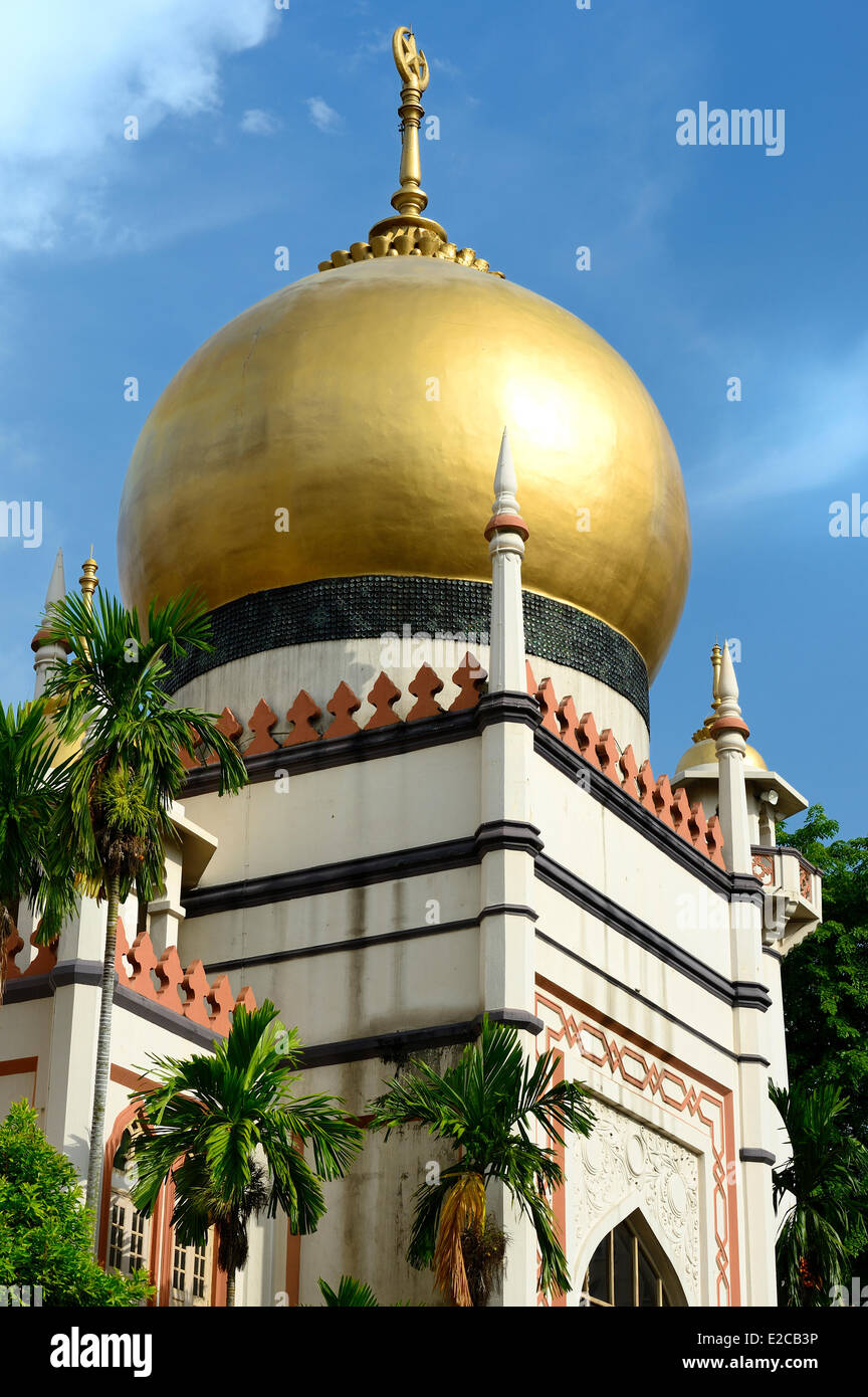 Singapore, Kampong Glam district, the Sultan mosque - Stock Image