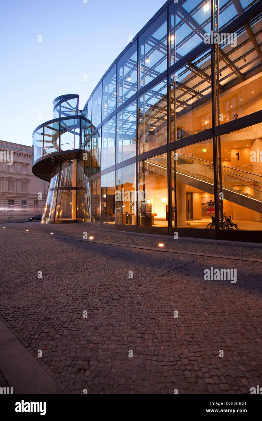 Germany, Berlin, the Deutsches Museum, extension by Ieoh Ming Pei - Stock Image