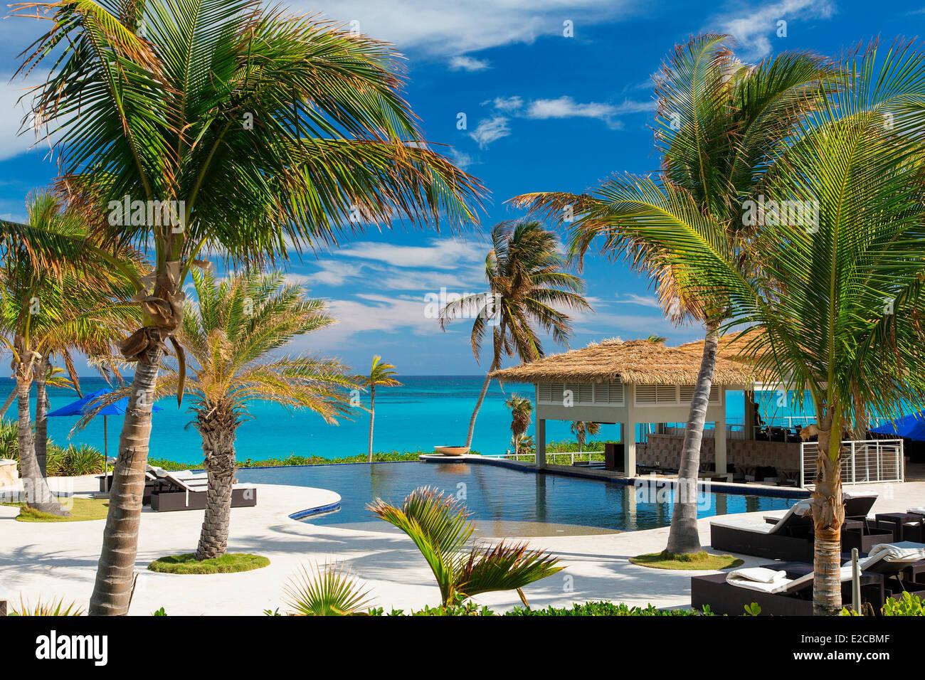 Bahamas, Eleuthera Island, The Sky beach Club Hotel - Stock Image