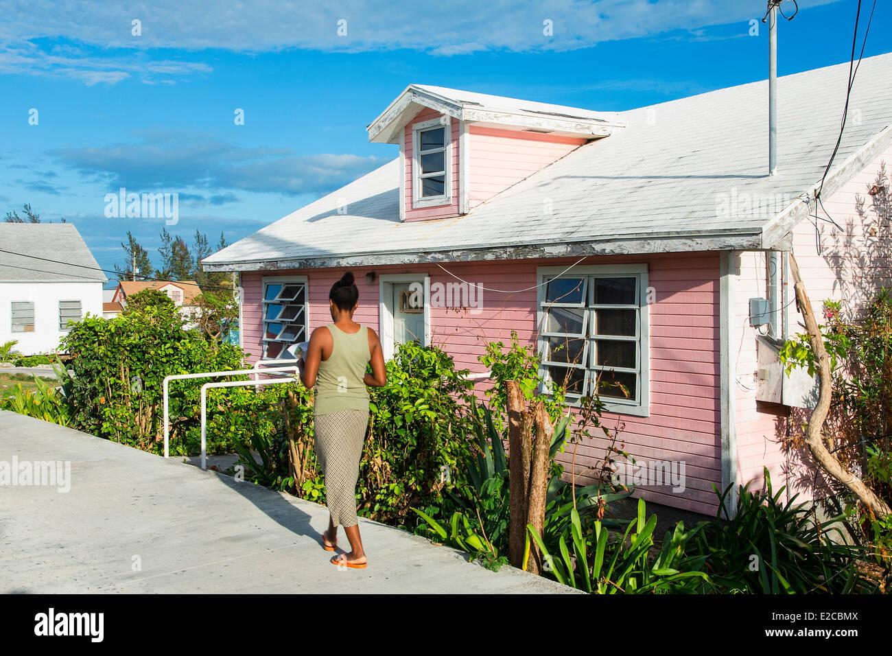 Bahamas, Eleuthera Island, Current Village - Stock Image