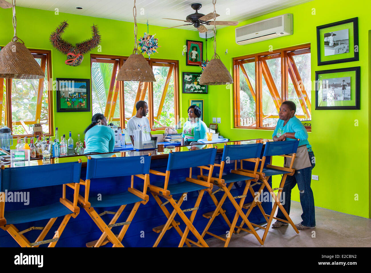 Bahamas, Harbour Island, The Sip Sip restaurant - Stock Image